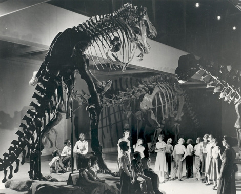 First T. Rex Skeleton at the Carnegie Museum of Natural History around 1950