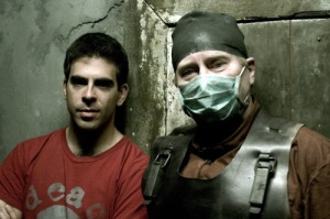 Eli Roth at the Hostel Maze
