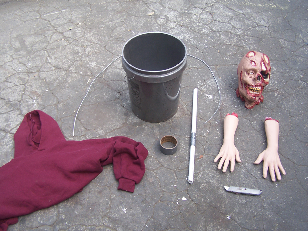 Halloween zombies with buckets tutorial dapper cadaver blog bucket zombie step 1 solutioingenieria Image collections