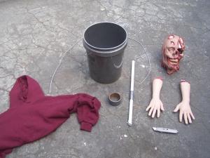 bucket zombie step 1