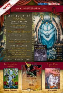 The Hive Gallery Haunted House Themed Show Flyer