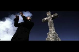 This 12 ft. cross tombstone was custom made for a music video.